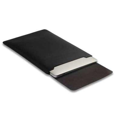 harga Tas Laptop Softcase Macbook Sleeve Slim PU Leather 14 inch Hitam Blibli.com
