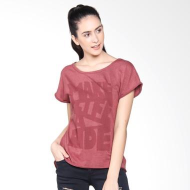BMW Motorrad Women's Kit T-Shirt Atasan Wanita - Red Maroon