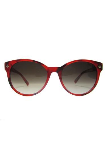 Trussardi 12861 - 53 Round Sunglasses Wanita - Red 5241ac1125