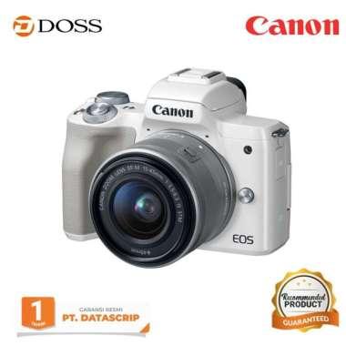 harga DOSS Canon EOS M50 Mirrorless Digital Camera Kit 15-45mm / Canon M50 WHITE Blibli.com