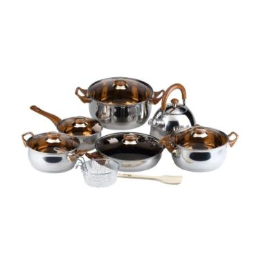 Oxone Set Panci Wajan Stainless Steel Eco Cookware OX-933