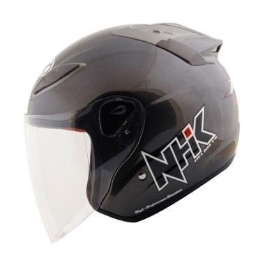 NHK R6 Solid Helm Half Face - Gunmetal