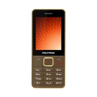 harga Polytron C24C Handphone Spesial TV Analog Radio FM Dual SIM  - Brown [Candybar] Blibli.com