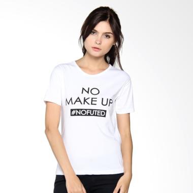 JCLOTHES Kaos Wanita Tumblr Tee Branded No Make Up - Putih