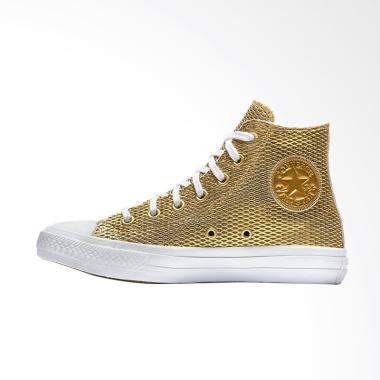 Converse Chuck Taylor 2 All Star Pe ... n Hi Sneaker Shoes - Gold