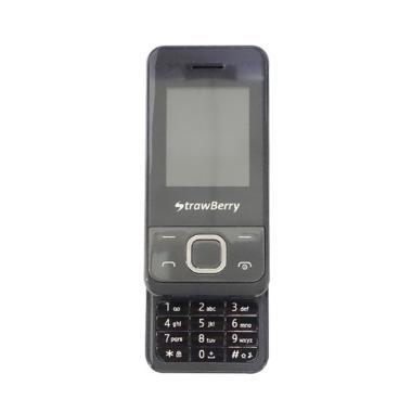 Strawberry ST6 Slider Handphone - Black [Dual SIM]