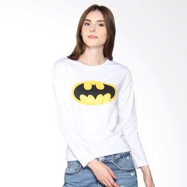 JCLOTHES Kaos Lengan Panjang Wanita Batman - Putih