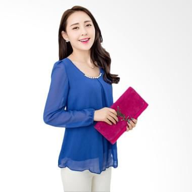 JCFashion Cindy Long Sleeve Blouse - Blue