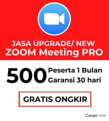 Zoom Meeting PRO 500 Lisensi 1 Bulan