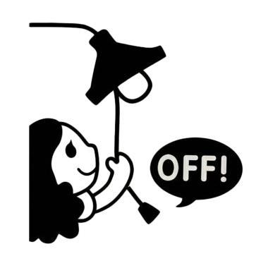 OEM Motif Motif Girl Off Dekorasi T ... klar Wall Sticker - Hitam