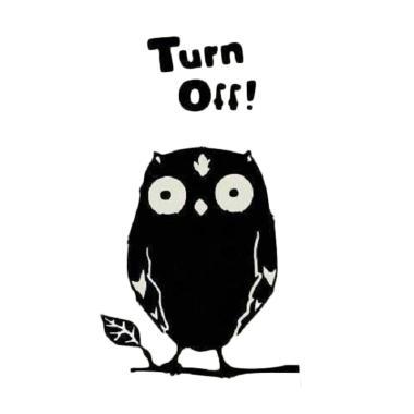 OEM Motif Owl Stiker Dekorasi Saklar Lampu