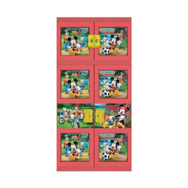 Naiba Mickey 1633 R Plastik Lemari Gantung - Merah