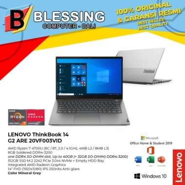 harga LENOVO ThinkBook 14 G2 ARE 20VF003VID Ryzen 7 4700U 8GB 512GB W10 OHS, Mineral Grey Blibli.com