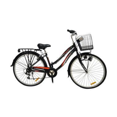Wimcycle Starlite City Bike - Black [26 Inch]