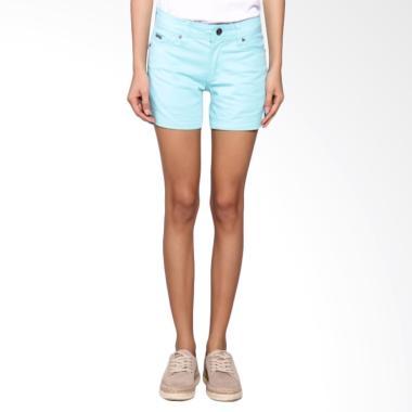 Bronco 6033 Hot Pants Chinos Celana Wanita - Tiffany Blue