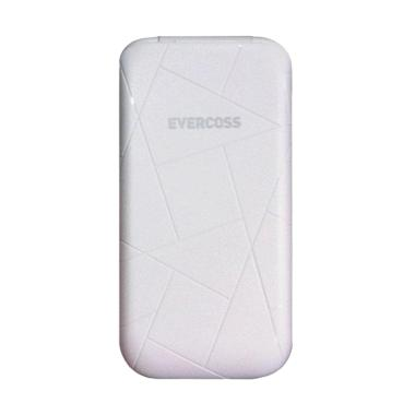 Evercoss C1V Flip Dual SIM Handphone - White