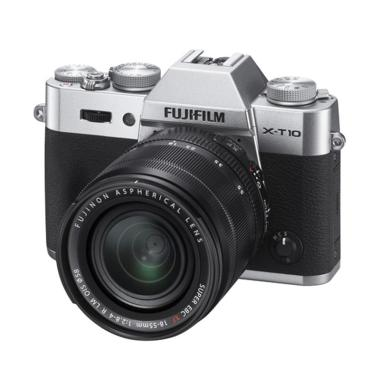 Fujifilm X-T10 Lensa Kit 18-55mm +  ... amera Mirrorless - Silver