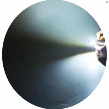 Raja Motor H6 LED (DC) Putih Lampu  ... 019-CoverGold-NyalaPutih]