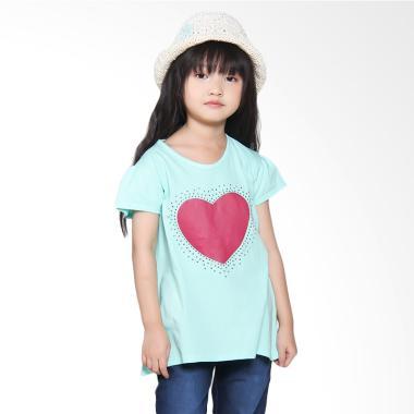 Versail S2064 Kids Kaos Oblong Juni ... ju Anak Perempuan - Hijau