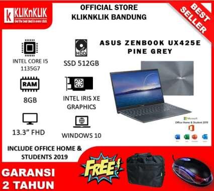 harga ASUS ZENBOOK UX425E BM551TS/BM552TS (INTEL I5-1135G7 | 8GB | 512GB SSD | 14