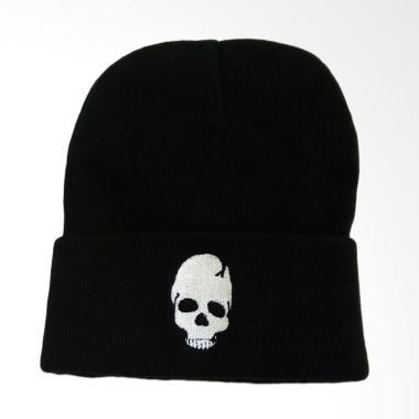 OEM Beanie Wool Skull Badges Topi Pria