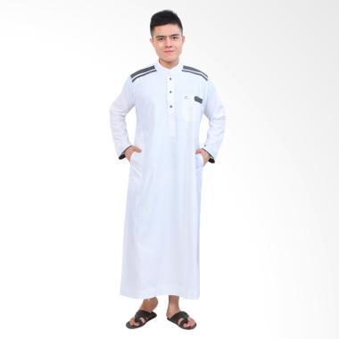 Okechuku Al-Isra Jubah Cordova Pakaian Gamis Pria - Putih