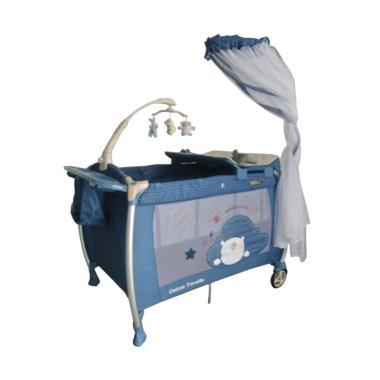 Babyelle 9A88 LR Baby Box Tempat Tidur Bayi - Blue