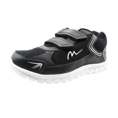 Ardiles Mickelson Sidu Sepatu Sekolah Anak - Hitam Putih
