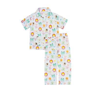 Papeterie PJ016 Baju Tidur Setelan Piyama Anak Perempuan