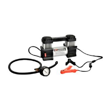 Henanstore Coido Pompa Ban Mobil Dual Silinder with Lampu LED