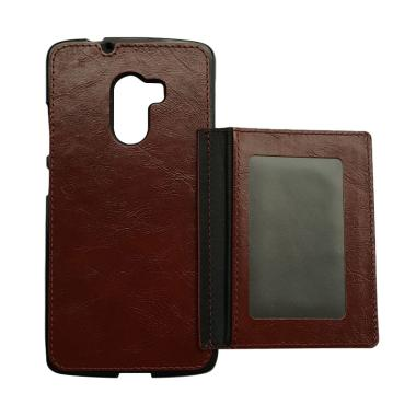 OEM Wallet Casing for Lenovo K4 Note - Coklat