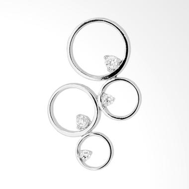 Lino P1606290022 Liontin Berlian Emas Putih [18K VVS]