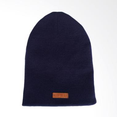 ASLEEP TOO DEEP Beanie Patch kulit Topi - Blue