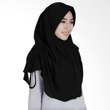 Hijab Bandung Lidya Kerudung Instant - Black