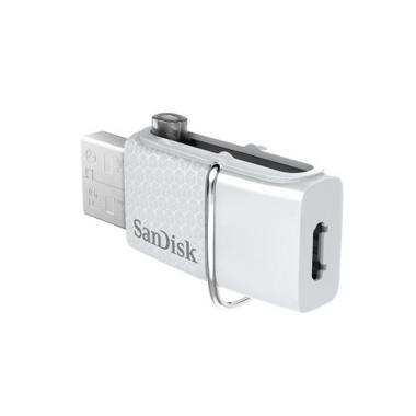 Sandisk Dual Drive USB Flashdisk & OTG Android - Putih [32 GB]