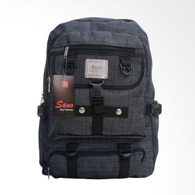 SANO Backpack Tas Ransel Distro Pria Wanita Cowok Cewek - Grey