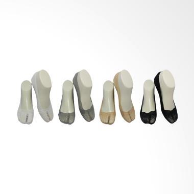 Unisox 6602X Brukat Invisible Socks ... a - Multicolor [4 Pasang]