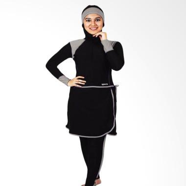 SPORTE SM 27 Baju Renang Muslim Wanita - Hitam Abu