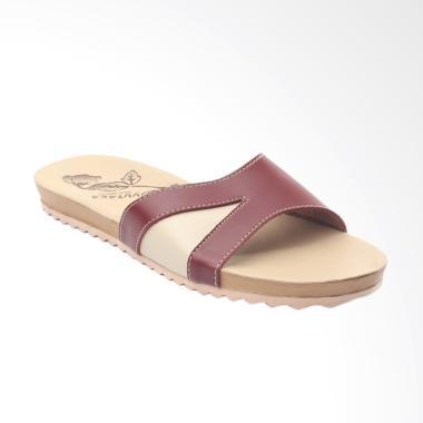 Yutaka ICB-02 Santai Cantik Sandal Wanita - Maroon Krem
