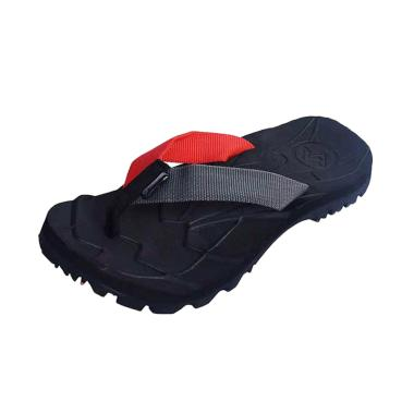 Suzuran Flip Flop Sandal Gunung - Black Grey [MR1]