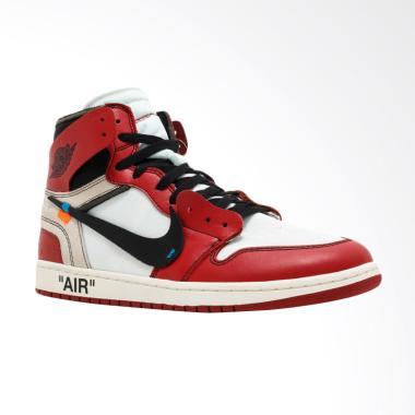 NIKE Men Air Jordan 1 High Off Whit ...  - Red White [AA3834-101]