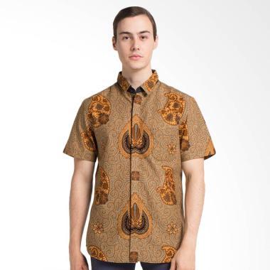 Arthesian Batik Kencana Printing Kemeja Lengan Pendek - Brown