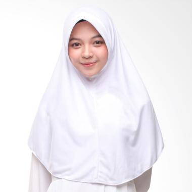 Hijab Najwa Kaos Katun TC Premium Jilbab Instan - Putih