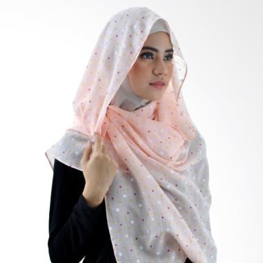 LAMAK Polka Shawl Hijab Pashmina - Pink