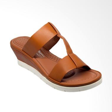 Bata Ladies 6913122 Cynth Sandal Wedges Wanita - Brown