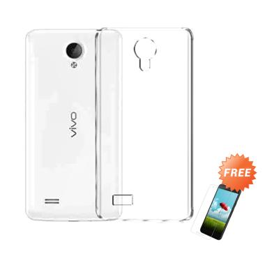 OEM Crystal Hardcase Casing for Vivo Y21 - Clear + Free Tempered Glass