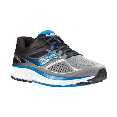 Saucony Men Running Guide 10 Sepatu Lari Pria - Grey. 5b6a4db307