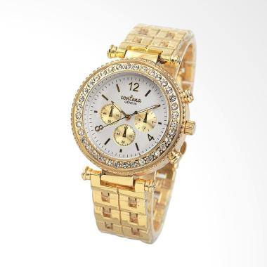 CONTENA WAT8088-2 Luxury Ladies Qua ... angan Wanita - Gold White