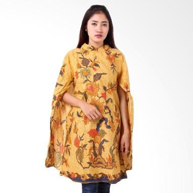 Batik Distro BA8814 Tunik Kaftan Blus Wanita - Kuning