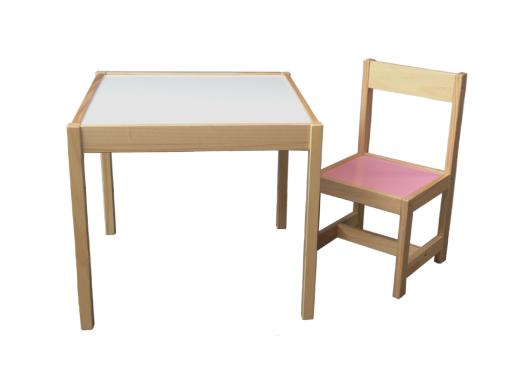 Benedetto Set Meja Kursi Anak - Pink